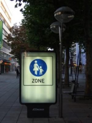 ドイツの歩行者専用道路標識